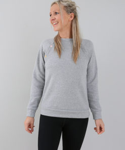 classic grey breastfeeding sweatshirt