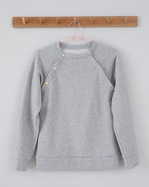 classic grey breastfeeding sweatshirt