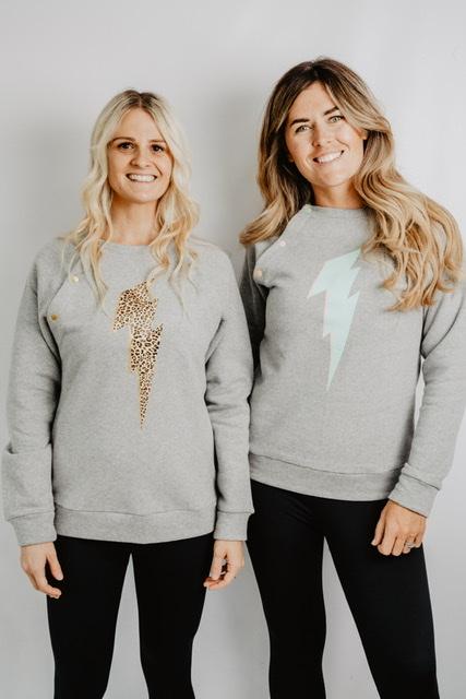 collaboration grey breastfeeding sweatshirt