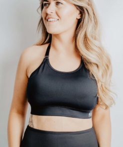 Train- adjustable back breastfeeding sports bra